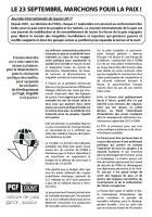 Tract « Le 23 septembre, marchons pour la paix » - PCF Oise, 23 septembre 2017