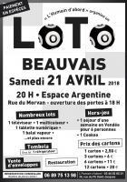 Affichette et flyer « Loto de l'humain d'abord » - PCF Beauvais, 21 avril 2018