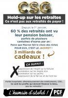 Tract « CSG : hold-up sur les retraites, ce n'est pas aux retraités de payer ! » - PCF Oise, 14 juin 2018