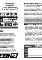 Flyer « Manifestation