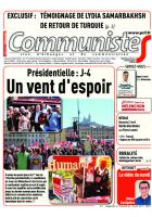 Journal CommunisteS n°677 19 avril 2017