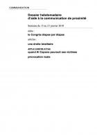 Dossier hebdomadaire d'aide à la communication de proximité. Semaine du 15 au 21 janvier 2018
