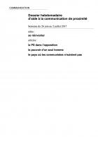 Dossier hebdomadaire d'aide à la communication de proximité. Semaine du 26 juin au 2 juillet 2017
