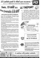 Tract « Journée à la mer au Tréport - Fête de l'Humanité » par secteur de l'Oise-vN&B - 19 août 2017