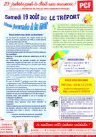 Tract « Journée à la mer au Tréport »-vCouleur - PCF Oise, 19 août 2017