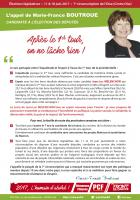 Tract « L'appel de Marie-France Boutroue :