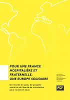 Pour une France hospitalière et fraternelle, une Europe solidaire