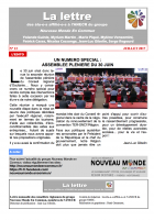 La lettre des élu-e-s affilié-e-s à l'ANECR du Groupe « Nouveau Monde En Commun » (n°13)