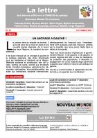 La lettre des élu-e-s affilié-e-s à l'ANECR du Groupe « Nouveau Monde En Commun » (n°15 - octobre 2017)
