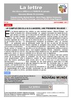 La lettre des élu-e-s affilié-e-s à l'ANECR du Groupe « Nouveau Monde En Commun » (n°14 - septembre 2017)