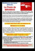 Mobilisation contre la casse de la Poste de Miramas