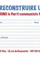 Pour reconstruire un espoir en France, je rejoins le Parti communiste français - Oise Avenir n° 1336, 30 août 2017