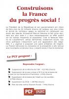 Construisons la France du progrès social !